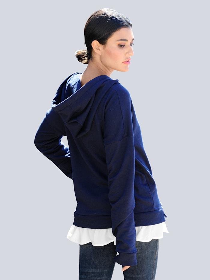 Sweatshirt in 2- in - 1 Optik
