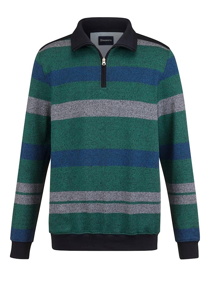 BABISTA Sweatshirt in bicolor, Groen/Blauw
