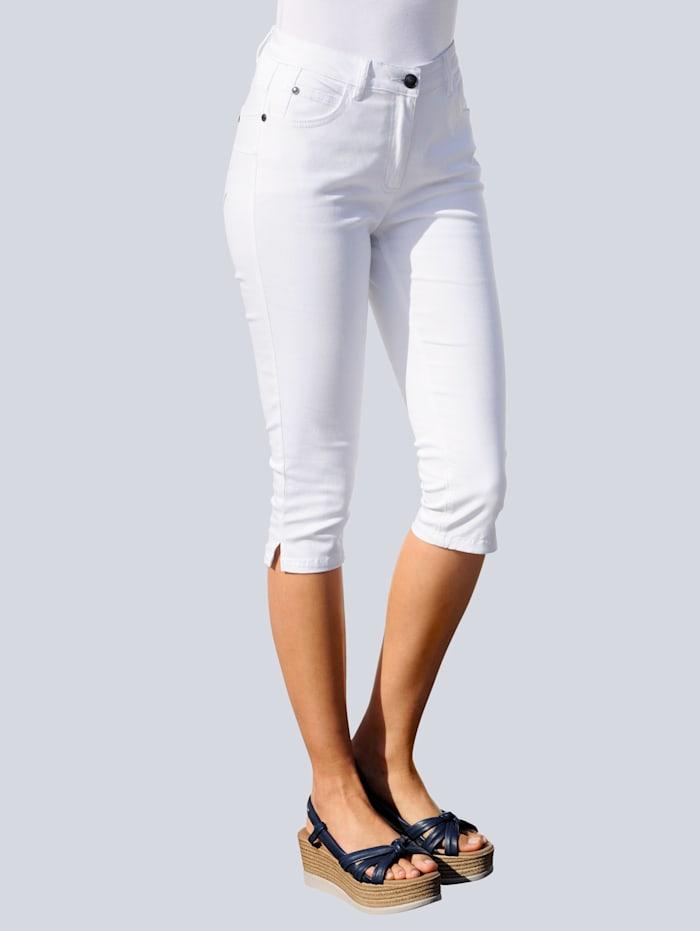 Alba Moda Caprihose mit Push Up Funktion, Weiß