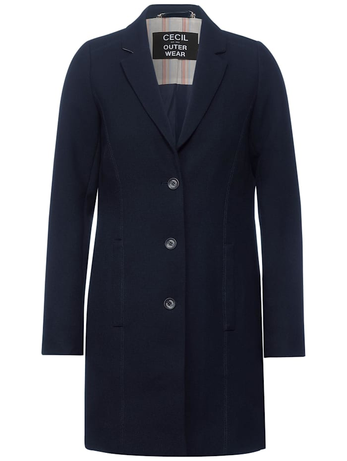 Cecil Mantel im Long-Blazer Style, deep blue