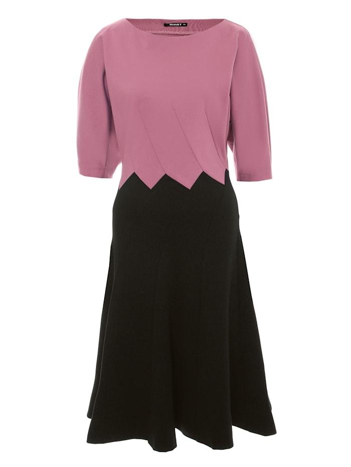 Madam-T Etuikleid Ergo, pink schwarz