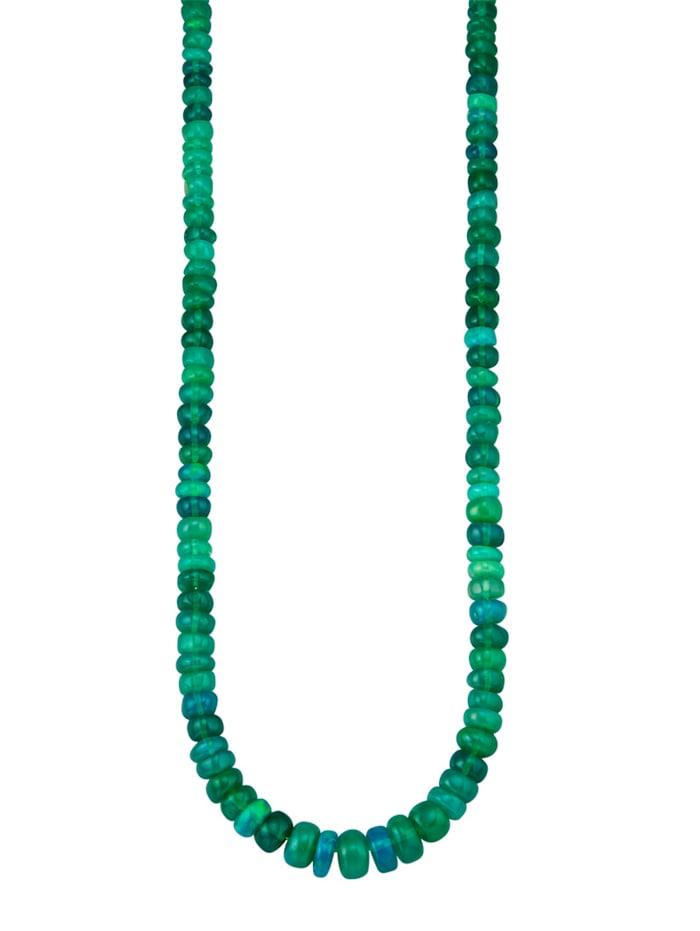 Amara Pierres colorées Collier avec opales en argent 925, Vert