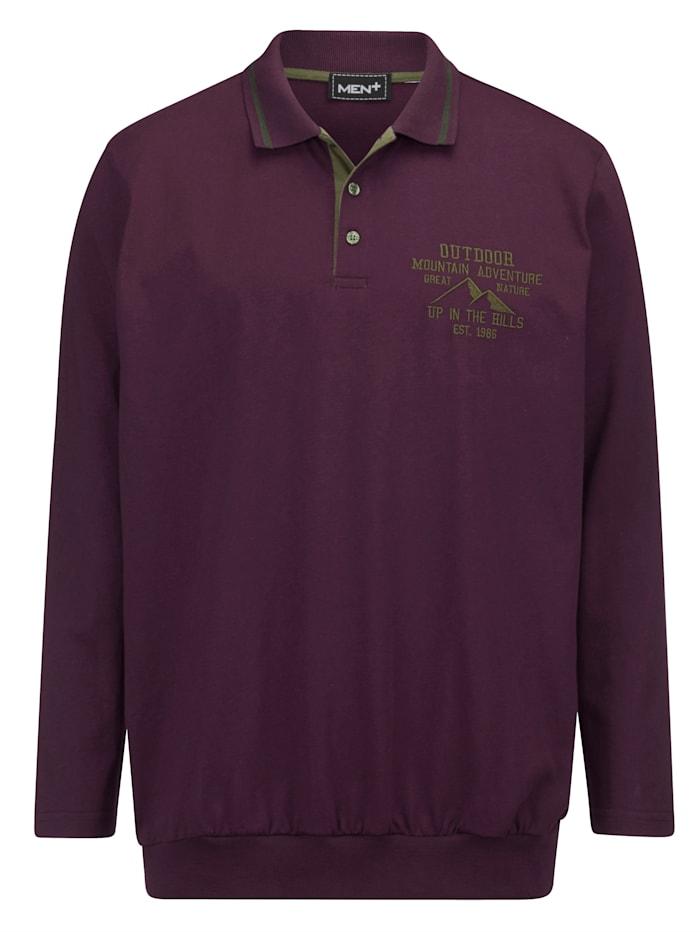 Men Plus Poloshirt met speciale pasvorm, Paars/Olijf