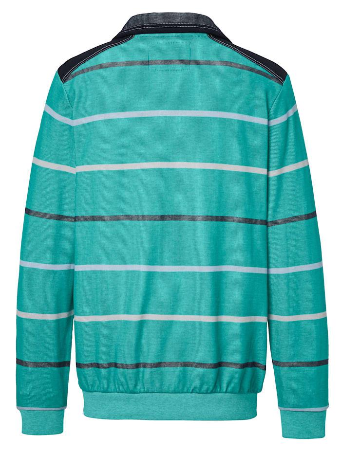 Sweatshirt met tweekleurige strepenpatroon