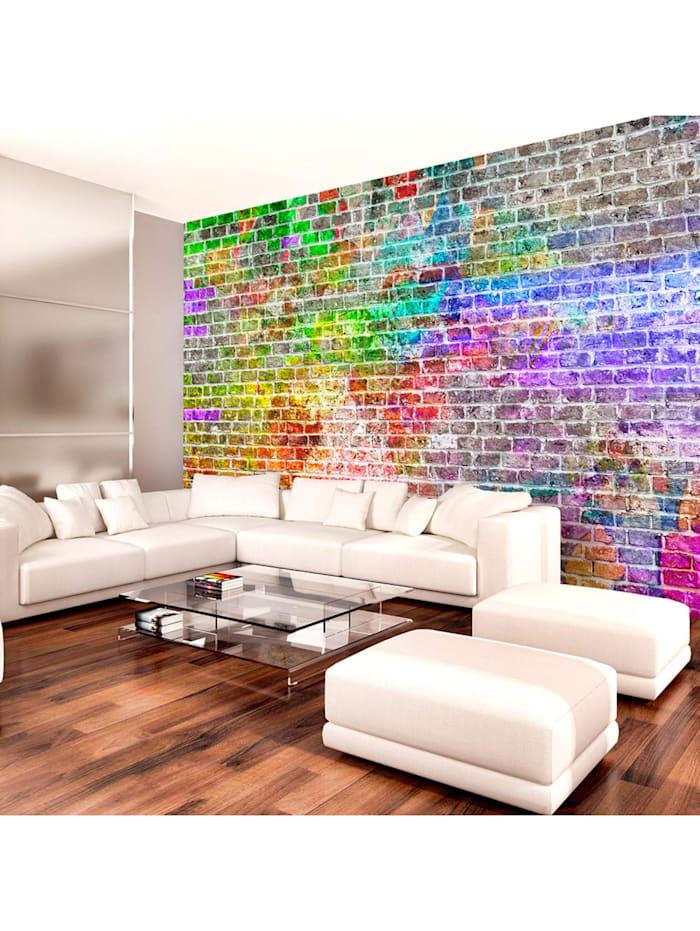 artgeist Fototapete Rainbow Wall, mehrfarbig