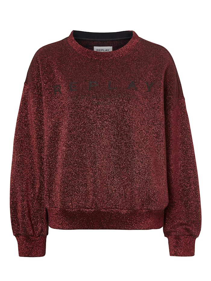 REPLAY Sweatshirt, Rot