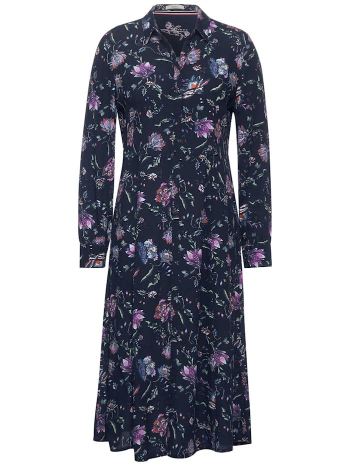 Cecil Midi-Kleid mit Blumen, deep blue