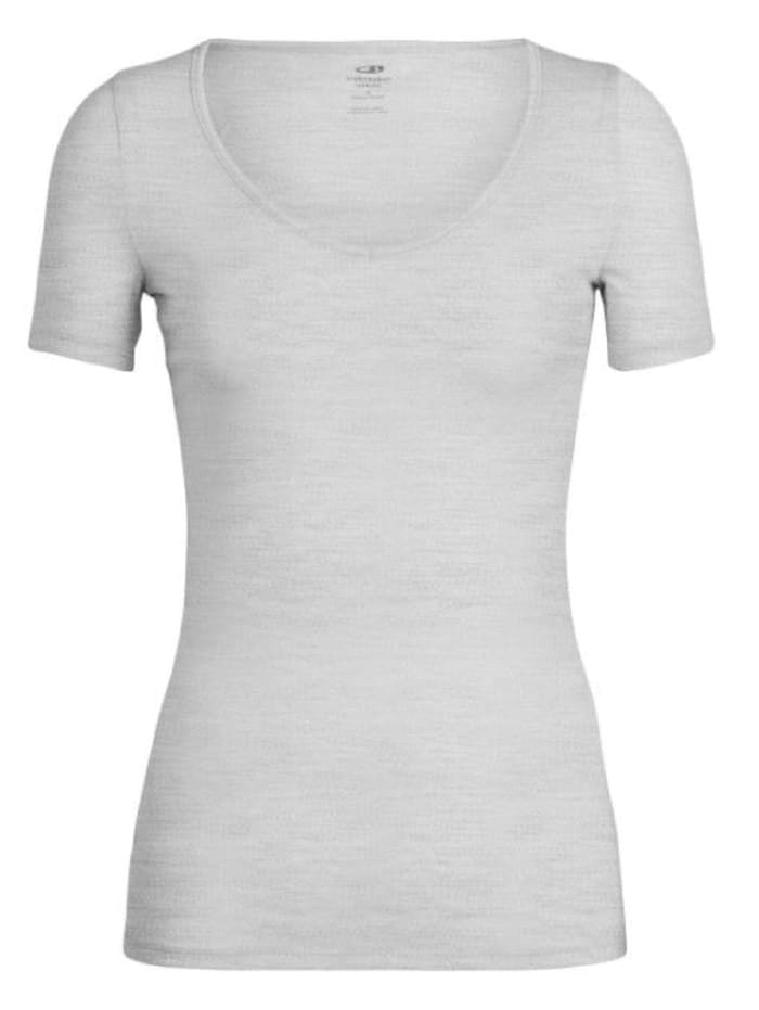 Icebreaker Icebreaker T-shirt Siren SS Sweetheart, Lichtgrau