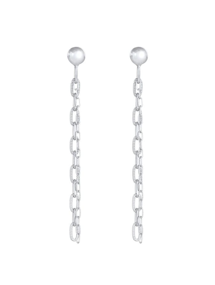 Ohrringe Stecker Hänger Gliederkette Trend 925 Silber