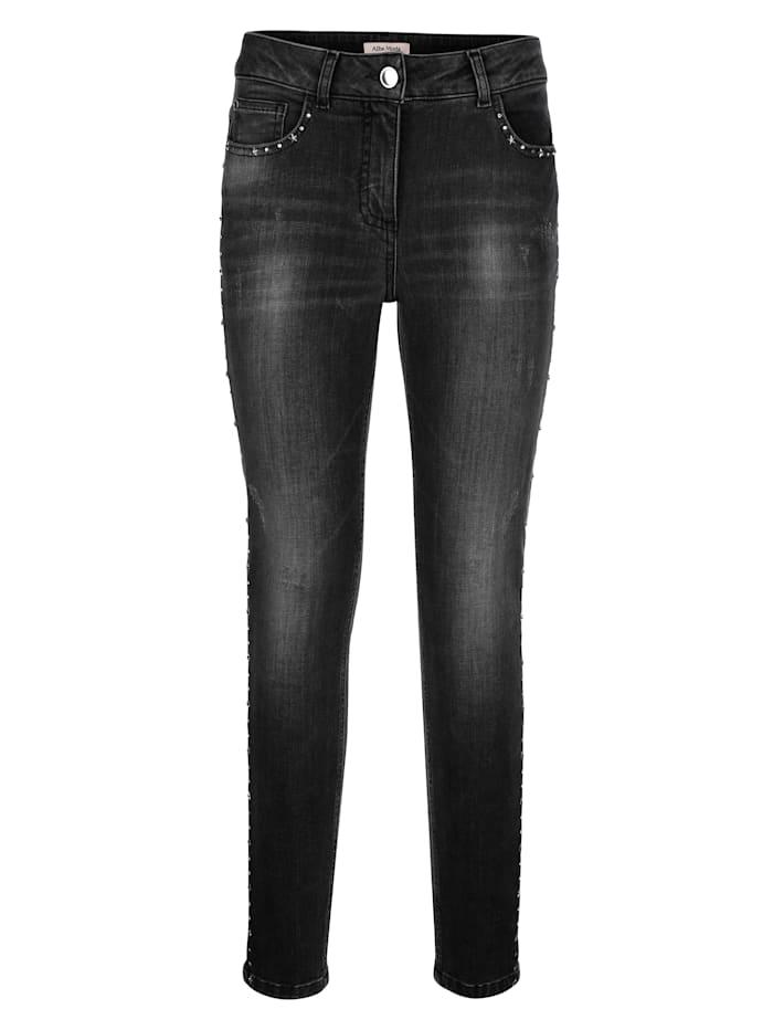 Jeans met stervormige studs