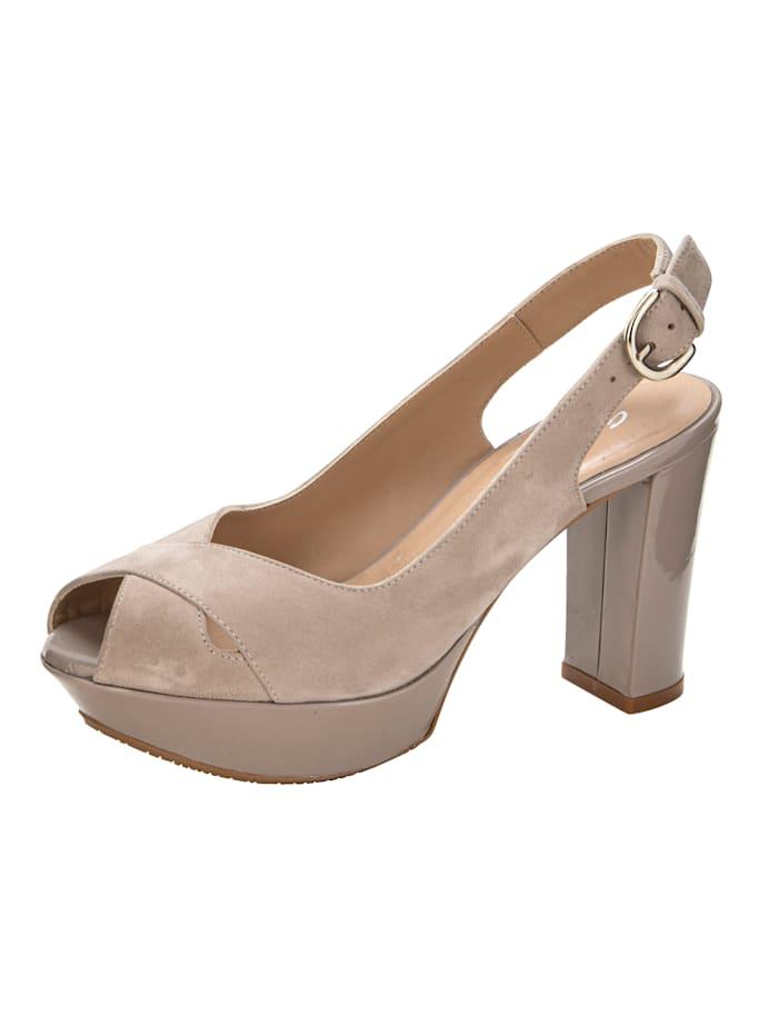 Gennia Sandaletter med trendig platåsula, Mullvad