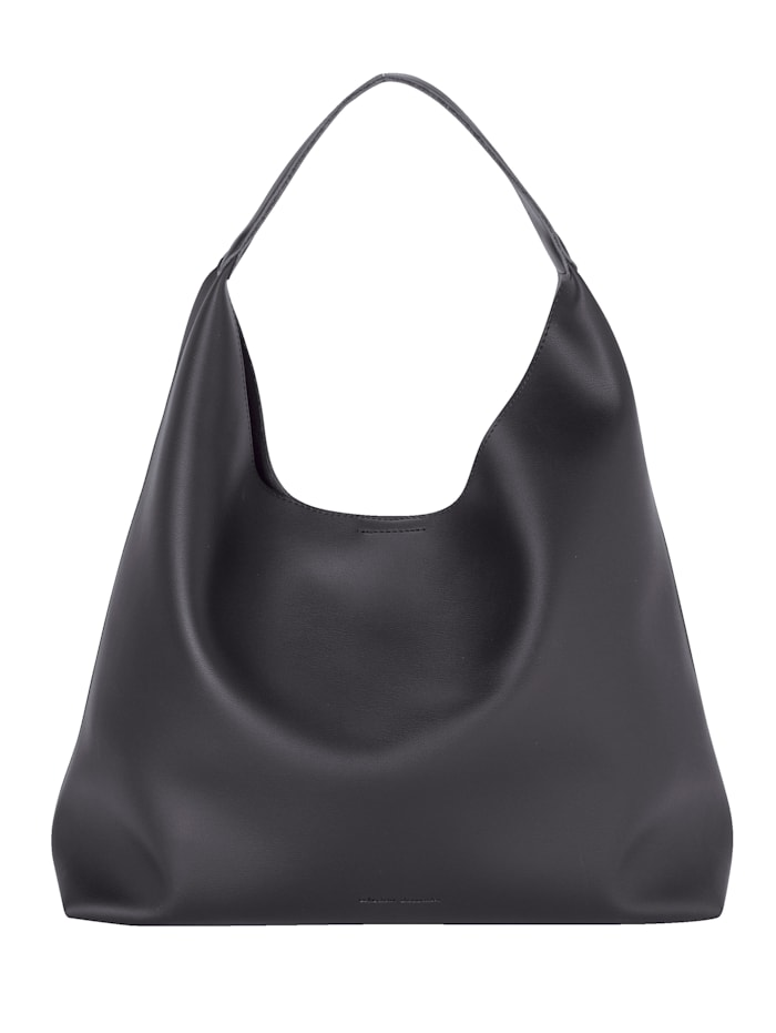 Collezione Alessandro Handbag with an additional pouch bag 2-piece, Black