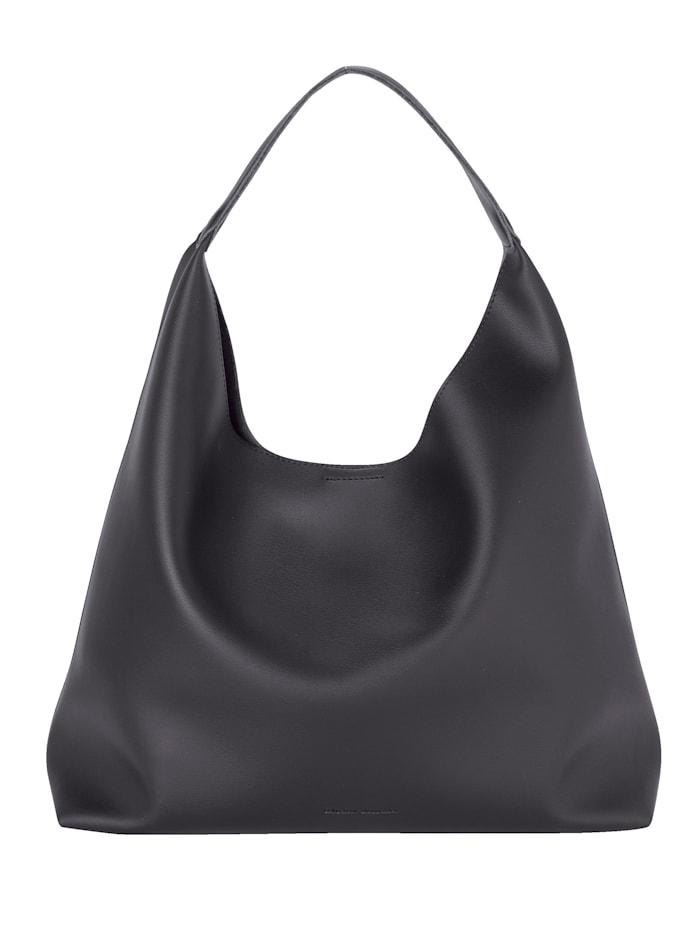 Collezione Alessandro Shopper taška vnútorne vrecko 2-dielna, Čierna