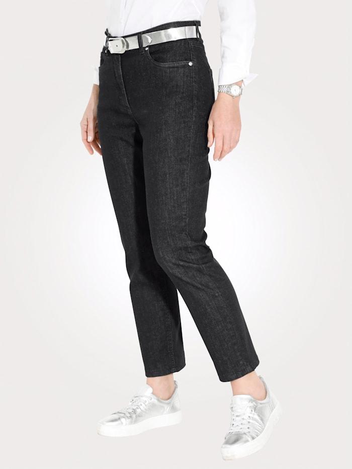 MONA Jeans in sportiver 5-Pocket-Form, Schwarz
