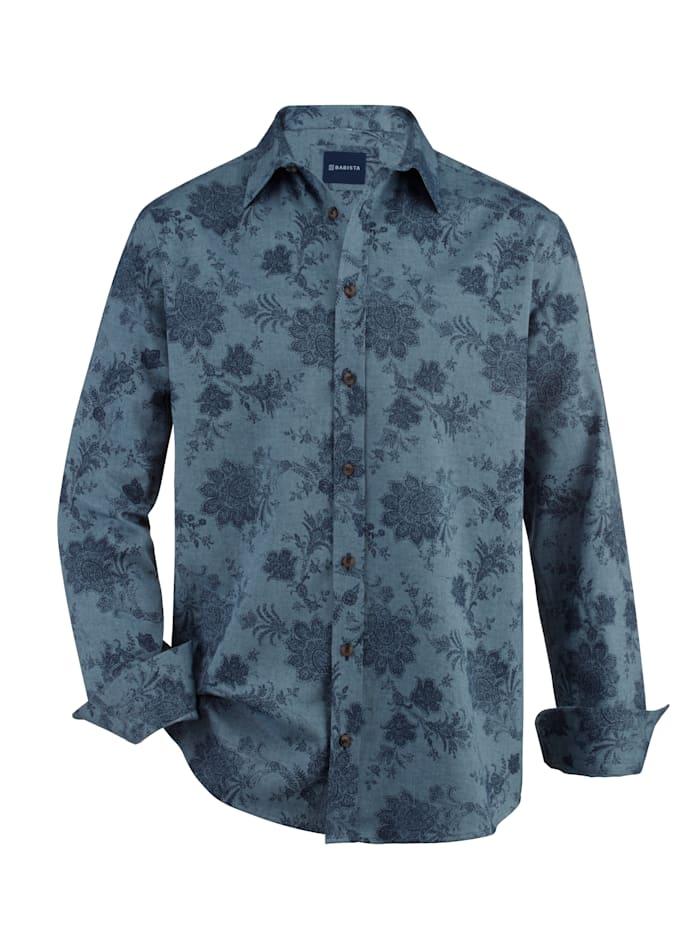 BABISTA Overhemd van zacht twillmateriaal, Blauw/Marine
