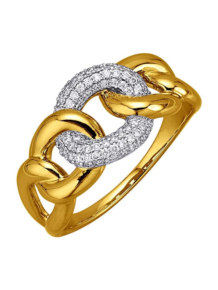 Diemer Diamant Damesring met briljanten, Wit