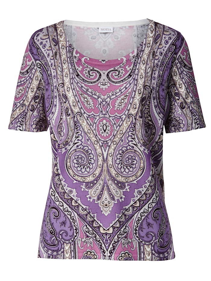 Jumper with a beautiful placed paisley print