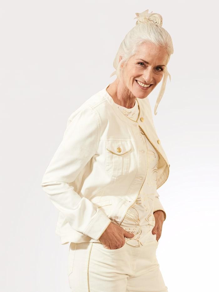 Jeansjacke mit authentischen Teilungsnähten