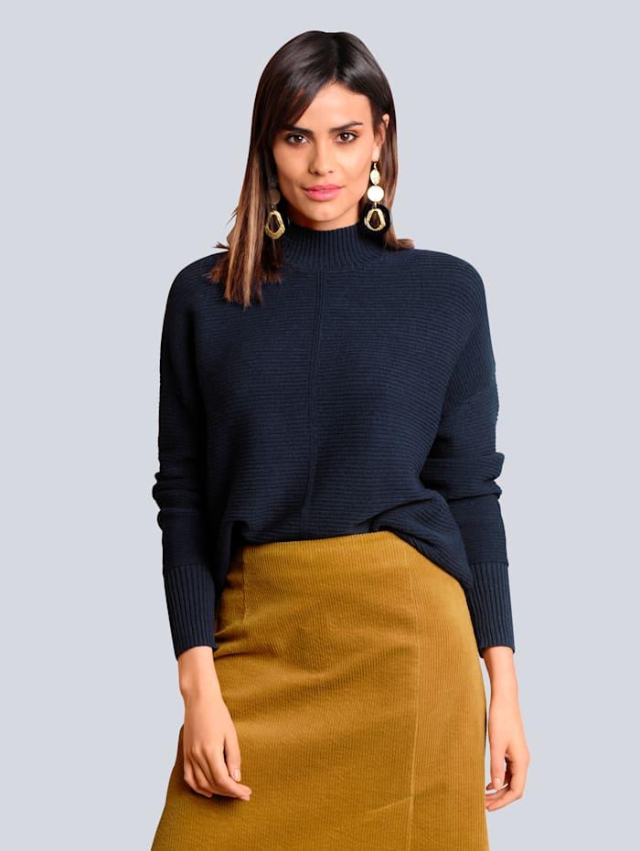 Alba Moda Pullover in kuschelweicher Qualität, Marineblau