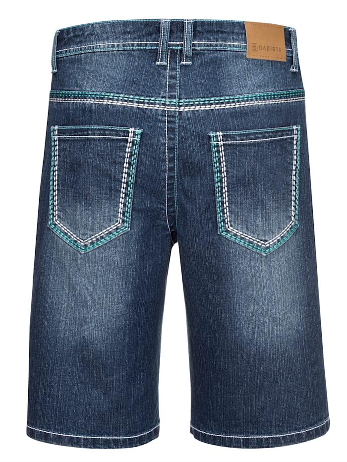 Jeansbermuda mit angesagten Kontrastnähten