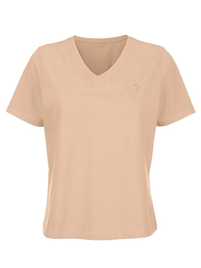 "MONA T-shirt en coton issu de l'initiative ""Cotton Made in Africa"", Noisette"