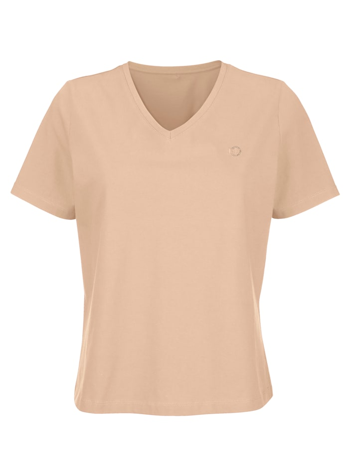MONA Top made from sustainable cotton, Hazelnut