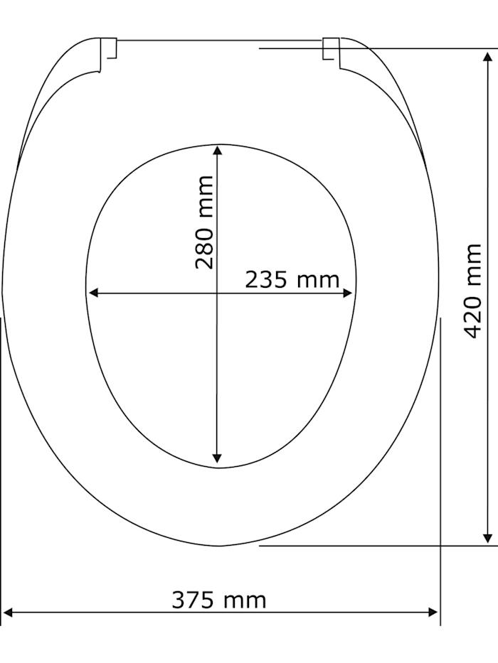 Premium WC-Sitz Kos Weiß, Thermoplast, mit Absenkautomatik