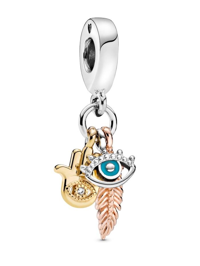 Pandora Charm-Hand der Fatima,beschützendes Auge, Federgeist- 768785C01, Multicolor