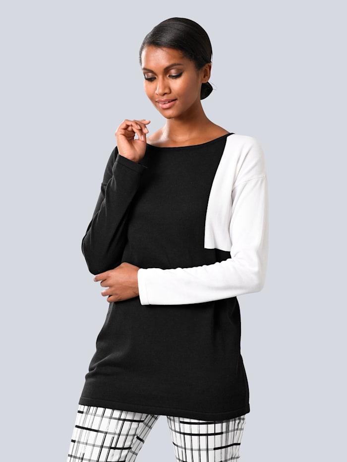 Alba Moda Pullover, Schwarz/Weiß