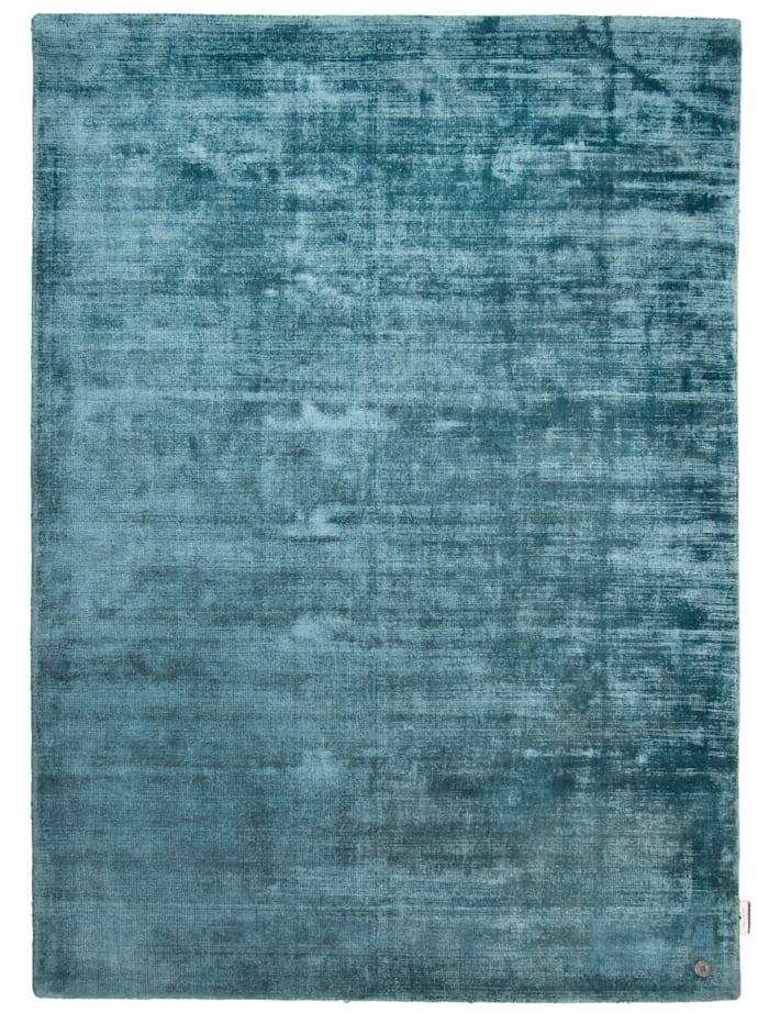 Tom Tailor Handarbeitteppich Shine Uni, Blau
