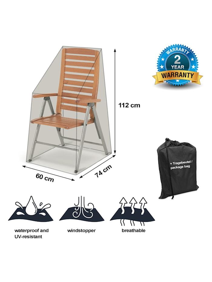 Black Premium Hochlehnerhülle  60x74x112cm / stacking chair cover /  atmungsaktiv / breathable