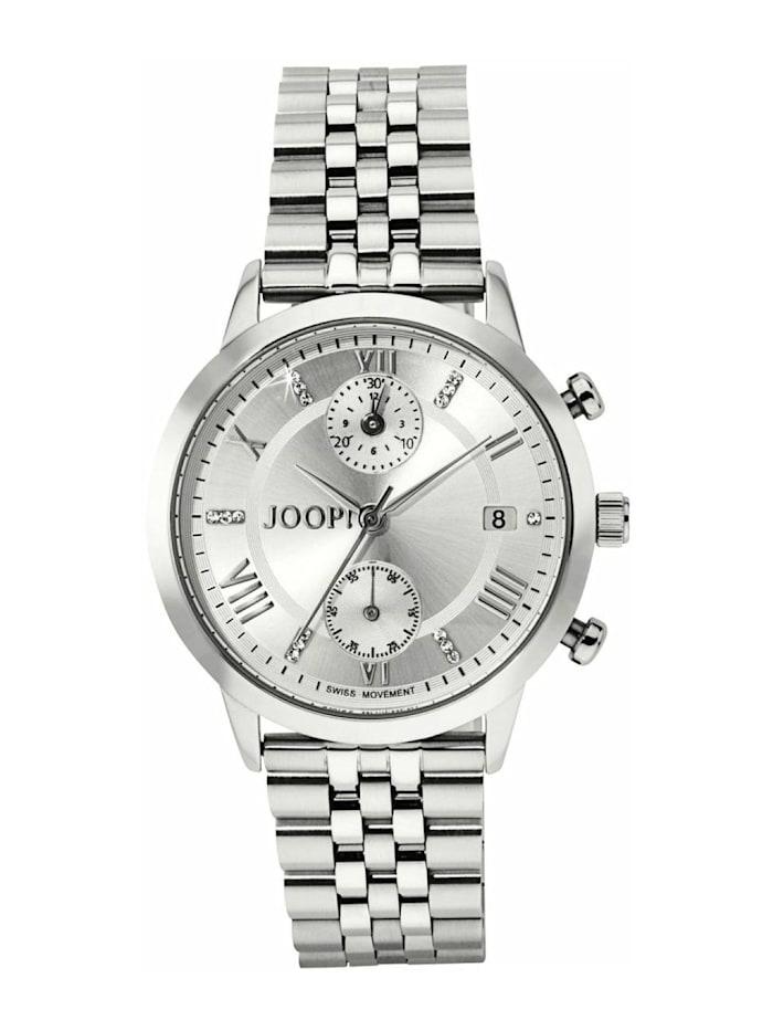 JOOP! Chronograph für Damen, Edelstahl, Zirkonia, Silber