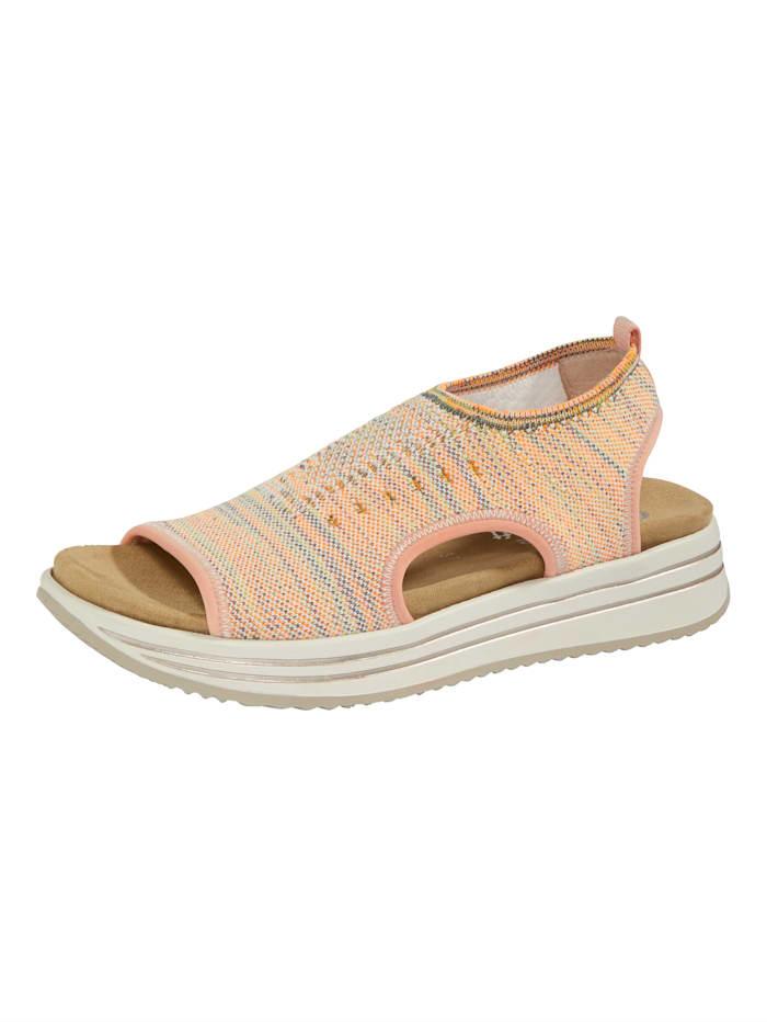 Remonte Sandale welche mit 2 Wechselfußbetten geliefert wird, Rosé