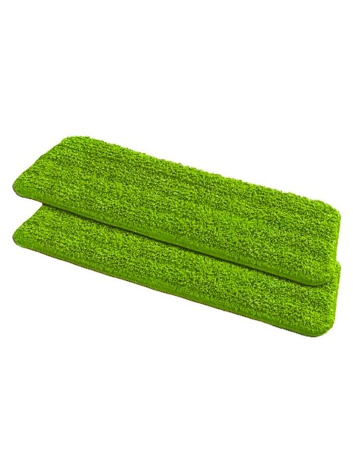 Wenko 2 Ersatzbezüge für Sprüh-Mop, grün