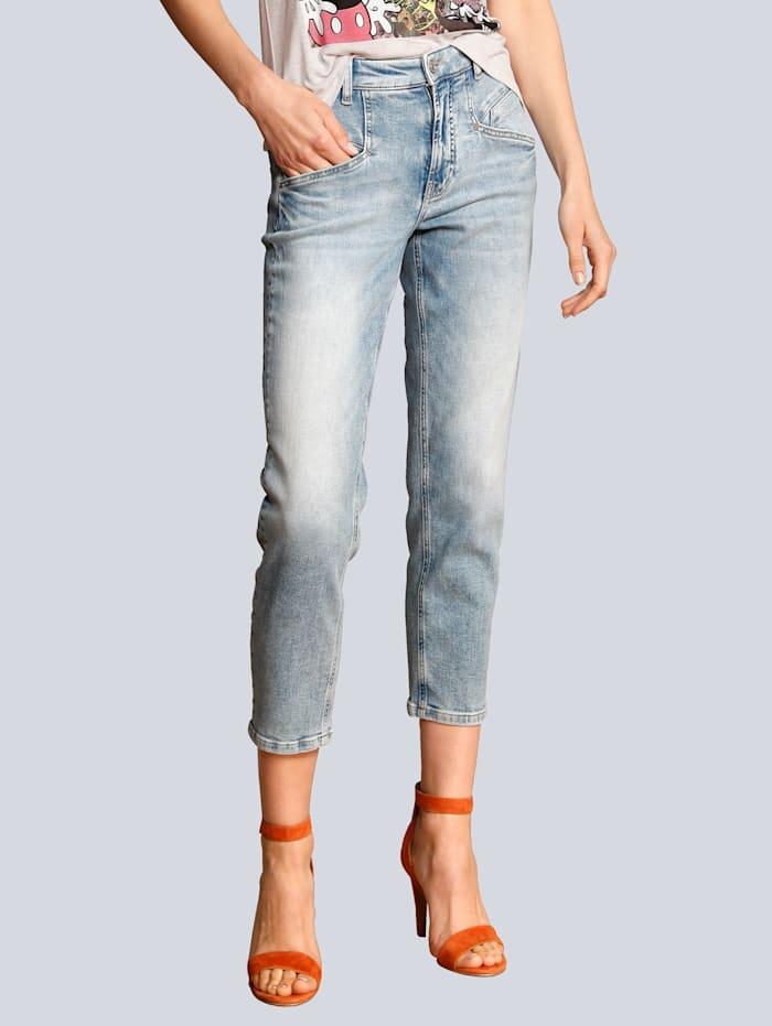 CAMBIO Jeans im Boyfriend-Style, Black stone
