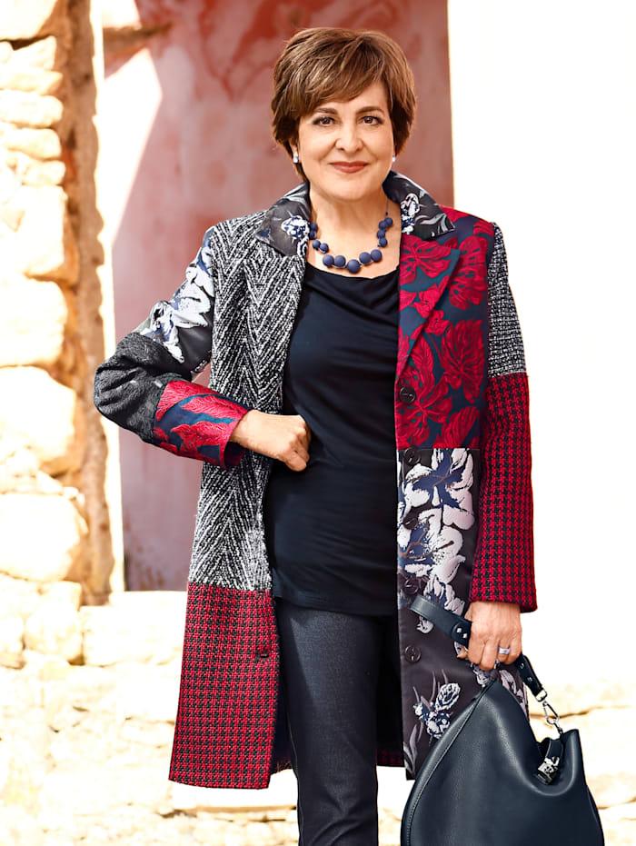 Paola Kabát v patchwork vzhľade, Námornícka/Červená