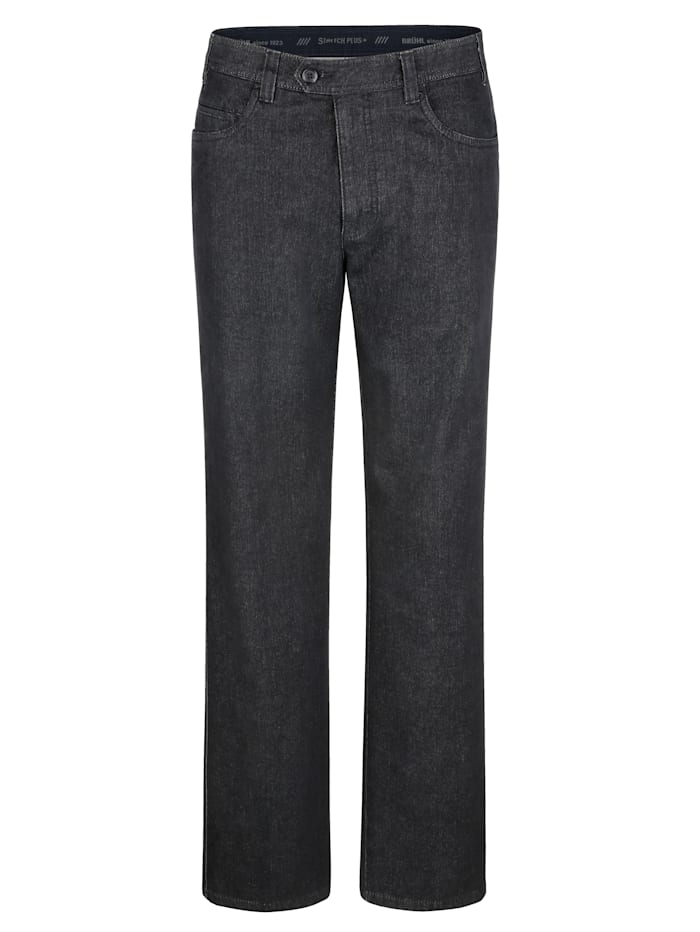 Brühl Swing-Pocket Jeans mit Cashmere-Touch, Black