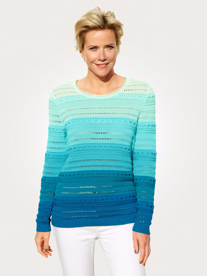 MONA Pullover aus Pima-Baumwolle, Mintgrün/Türkis/Petrol