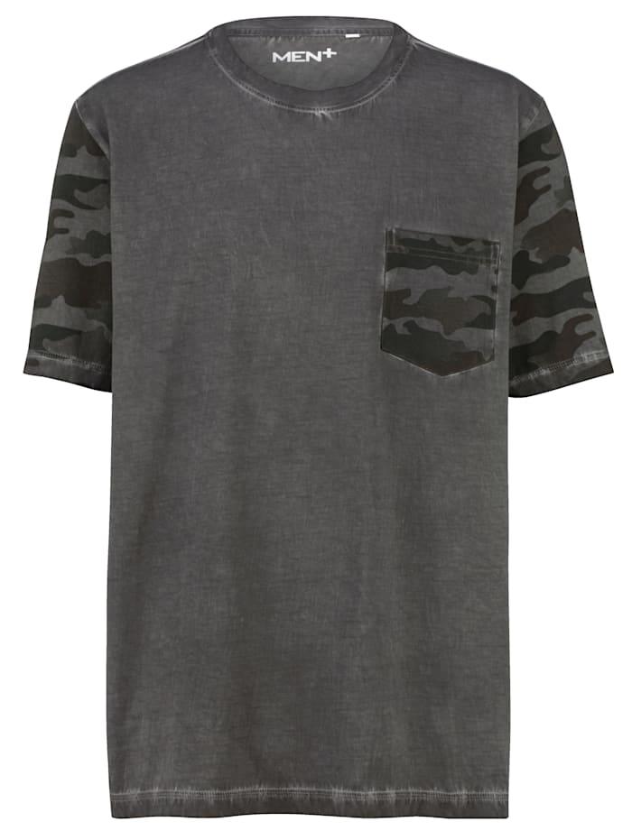 Men Plus Puuvillainen T-paita, Harmaa