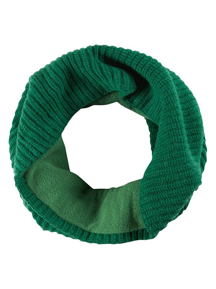 Codello Strick-Loop mit kuscheliger Fleece-Innenseite, green
