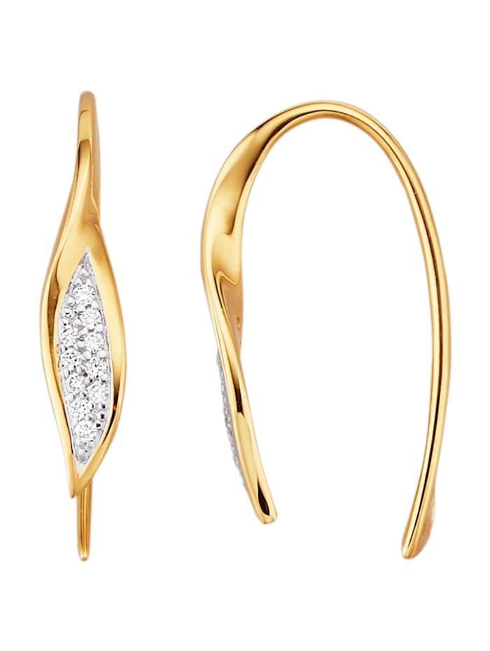 Diemer Highlights Ohrringe mit Brillanten, Gelbgoldfarben