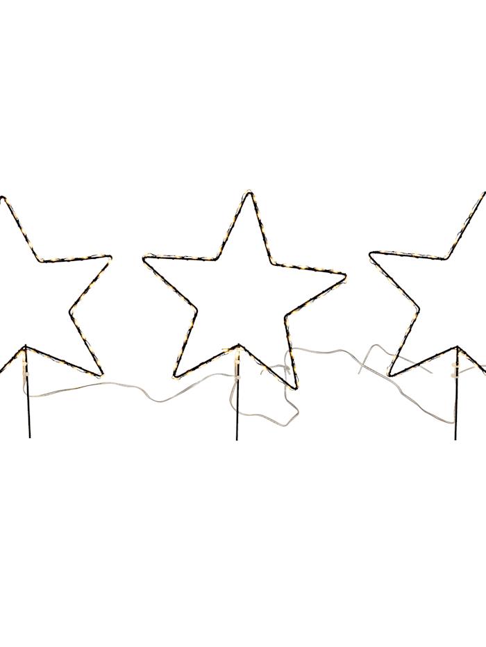 Outdoor-LED-Stecker-Set, 3tlg., Stern