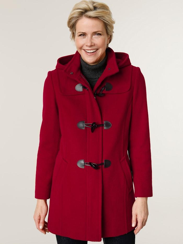 MONA Duffle-coat avec capuche, Rouge