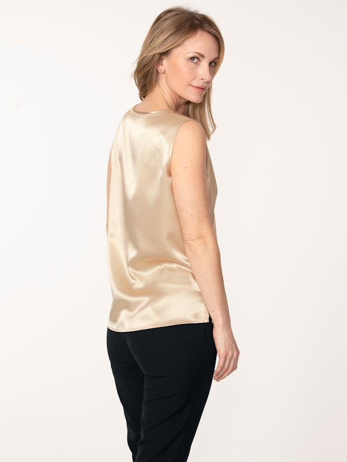 Top made from elegant satin