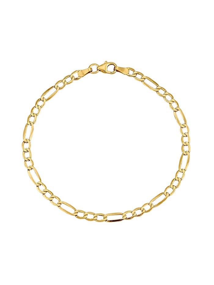 Armband, figaolänk, Guldfärgad