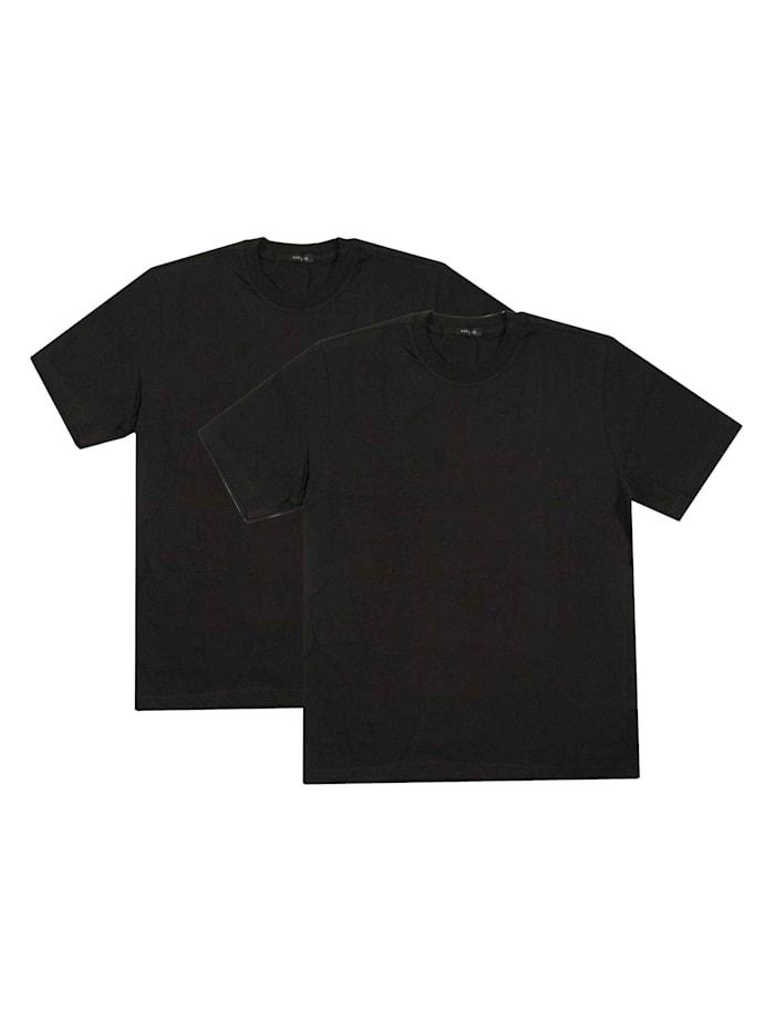 Schiesser Rundhals-Shirt im Doppelpack, schwarz