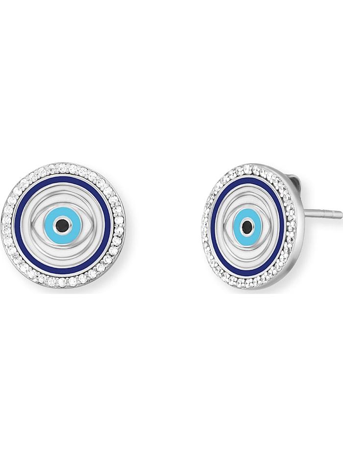 Engelsrufer Engelsrufer Damen-Ohrstecker Ohrstecker Lucky Eye 925er Silber Zirkonia, silber