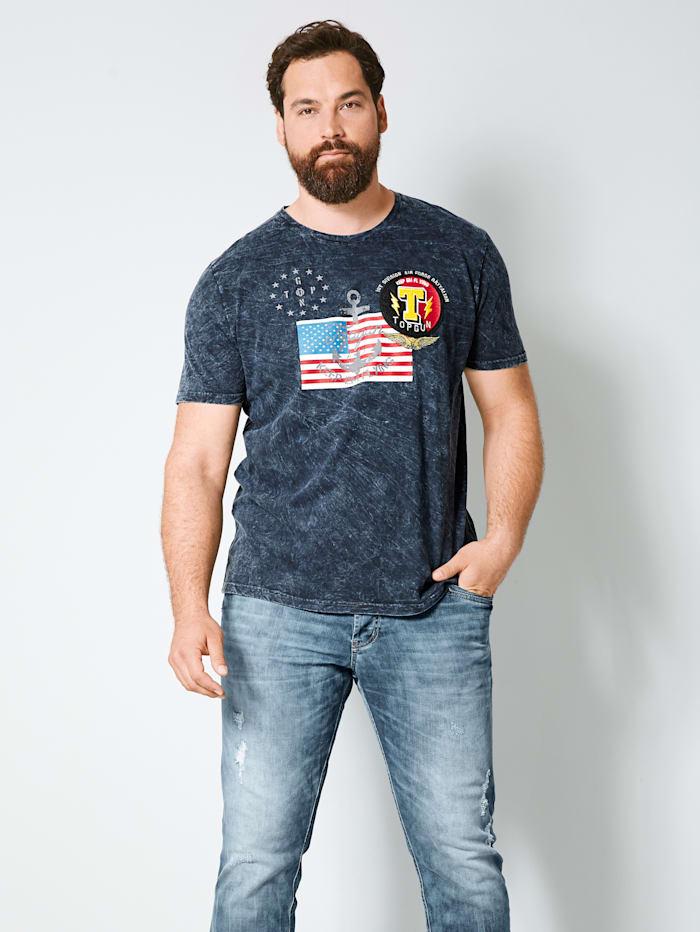 Top Gun T-Shirt aus reiner Baumwolle, Schwarz