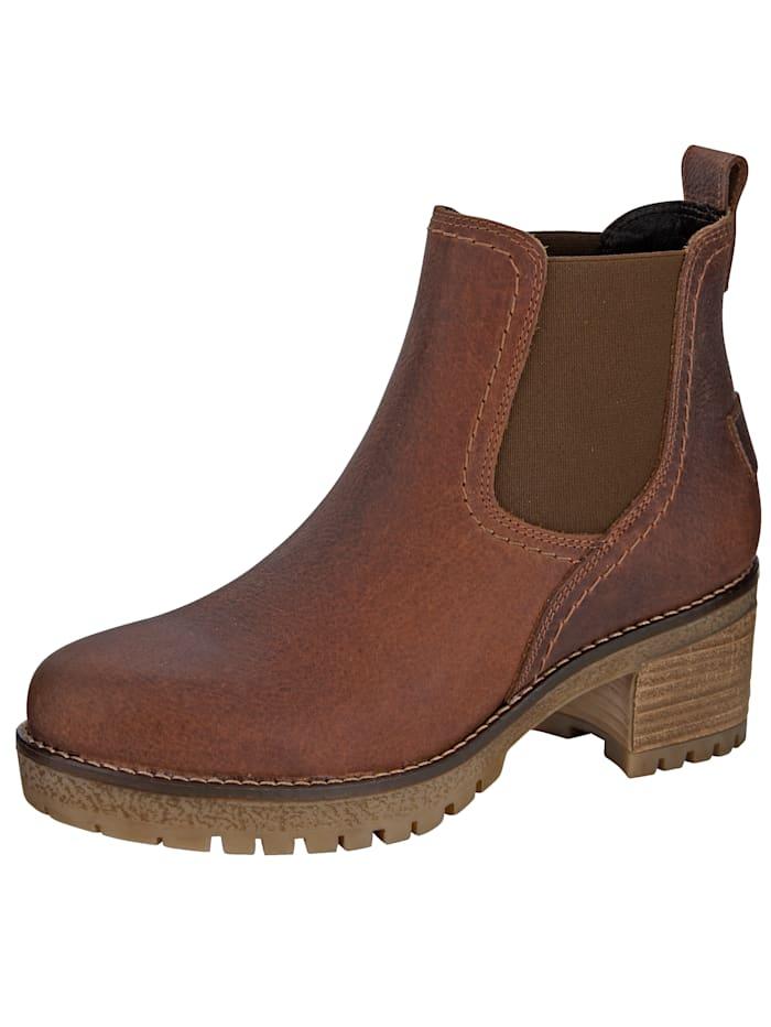 Filipe Shoes Boots forme Chelsea effet vieilli, Cognac