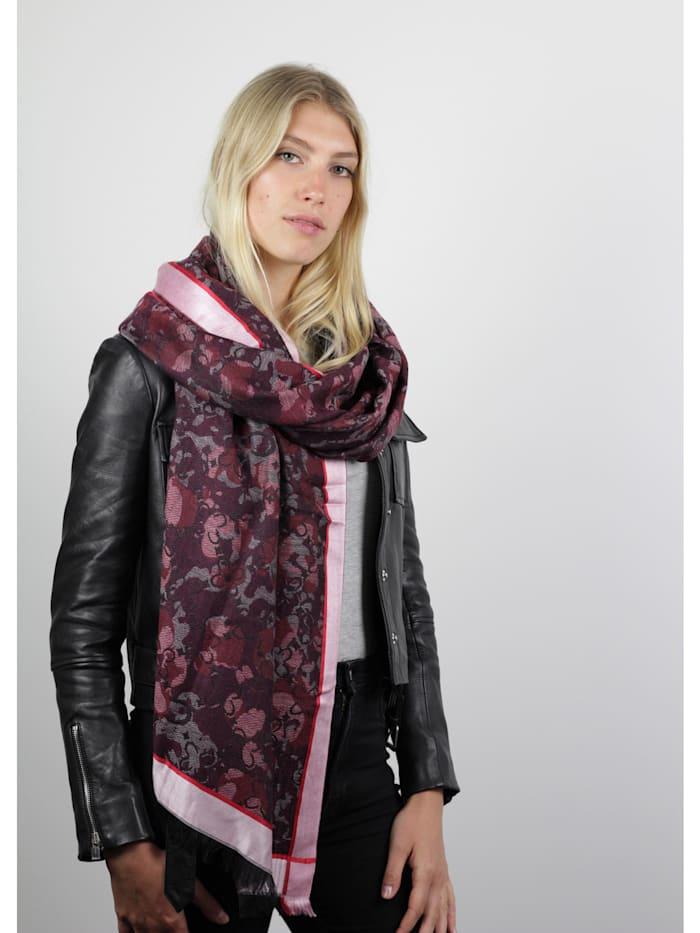 Mustermix-Schal aus Baumwolle mit Wolle und Modal